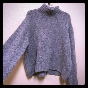 Grey Turtleneck H&M Sweater